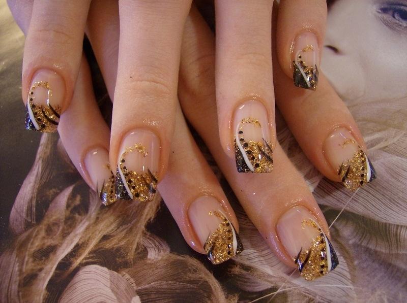 Рисунки на ногтях осень картинки
