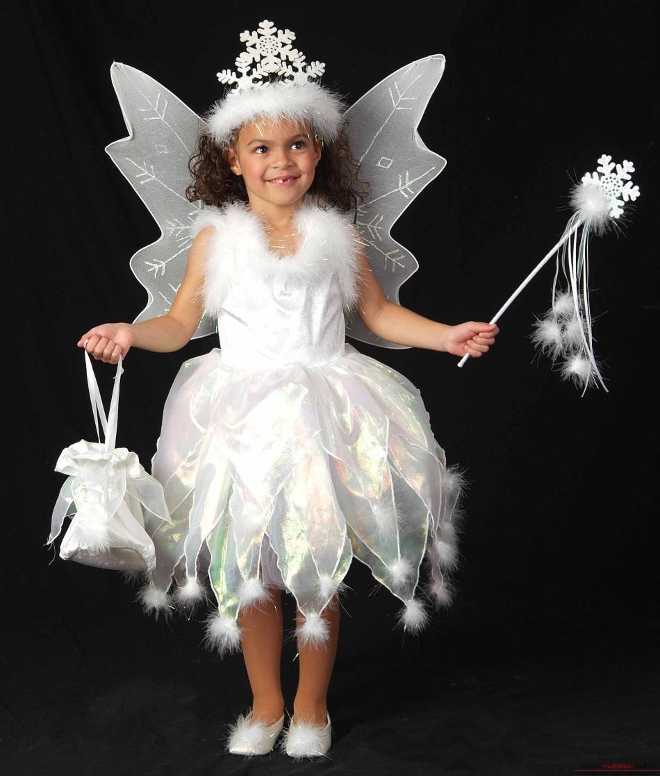 платье снежинка для девочки крючком схема и описание как связать
