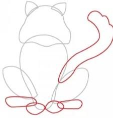 ochertite-liniyu Как нарисовать котенка карандашом поэтапно для начинающих и детей? Как нарисовать котенка аниме с милыми глазками, мордочку котенка?