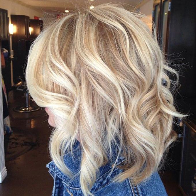 Омбре на светло-русые волосы