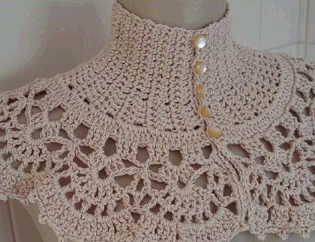 Схема вязания манишки для женщин фото 320