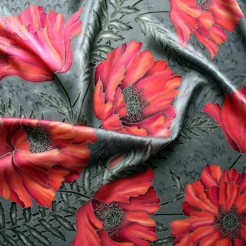rospis-po-shelku-batik Батик: роспись по ткани для начинающих и мастер класс с фото