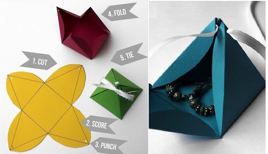 shema-sozdaniya-upakovki-piramidki Как упаковать подарок своими руками