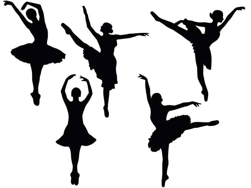 Вытынанки балерин и ангелочков, пример 1