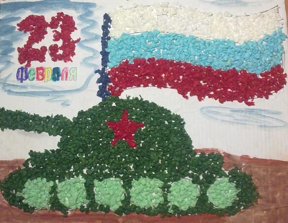 Открытки к 23 февраля для детей 3-4 лет в детском саду, удачного