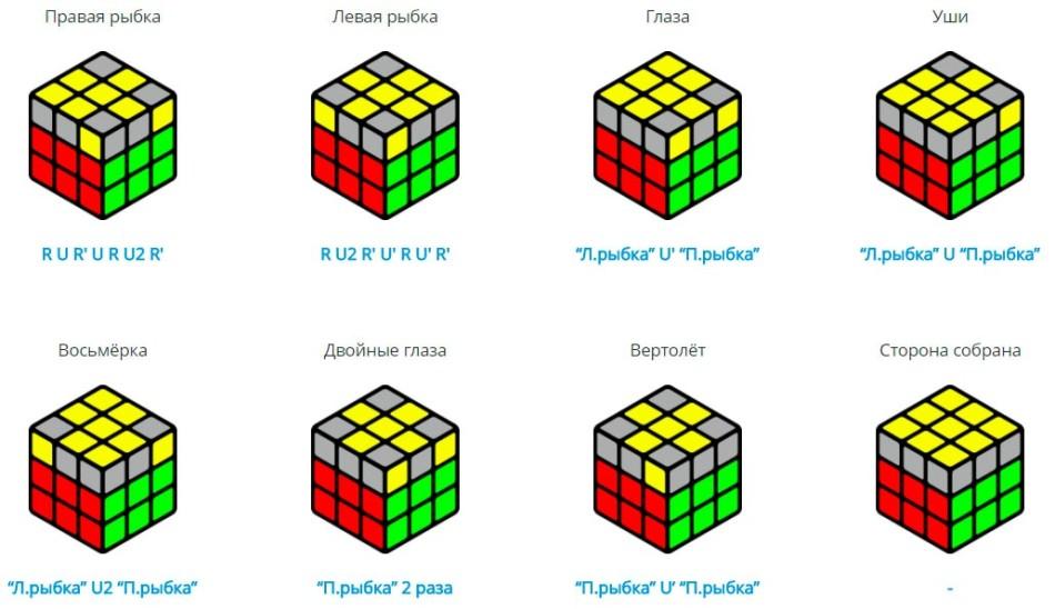 Кубик рубика схема сборки 3х3 скоростной 277