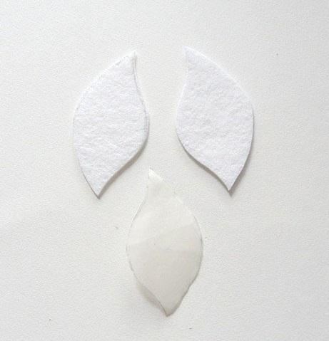Заготовки для лепестков-серег в технике шибори
