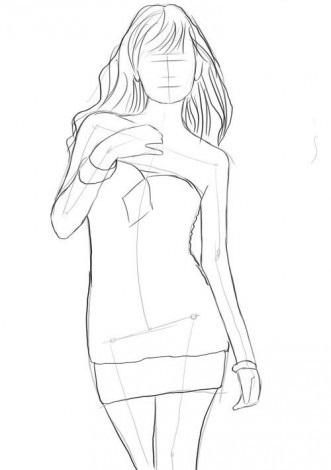 tulovishe-zhenshini-karandashom-shag-3 Как рисовать ноги человека? Подробно рассмотрим строение и технику рисования