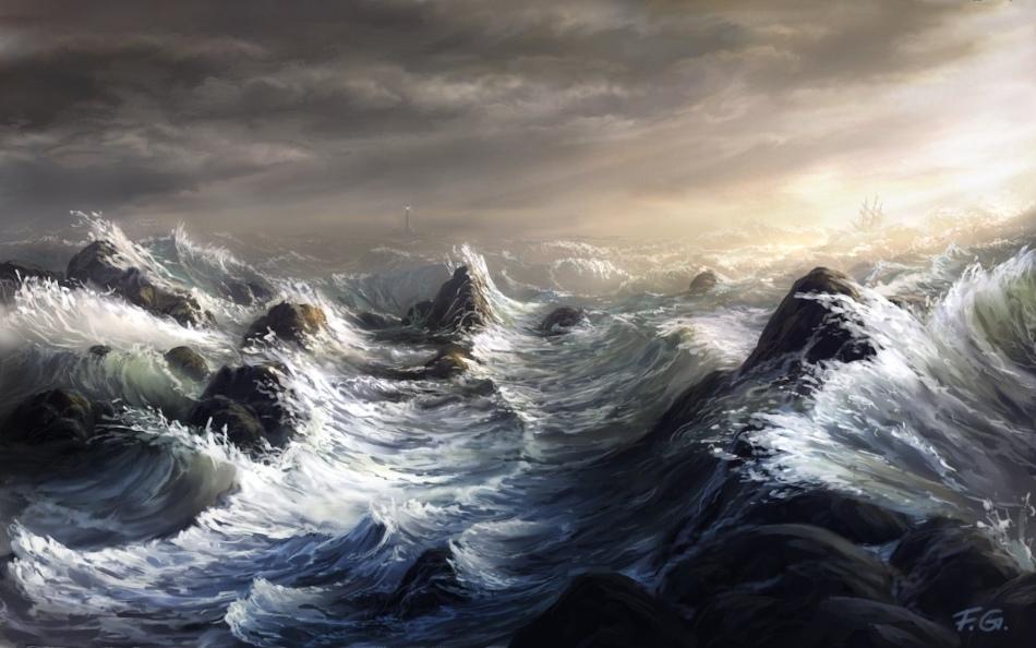 Неспокойное море во сне