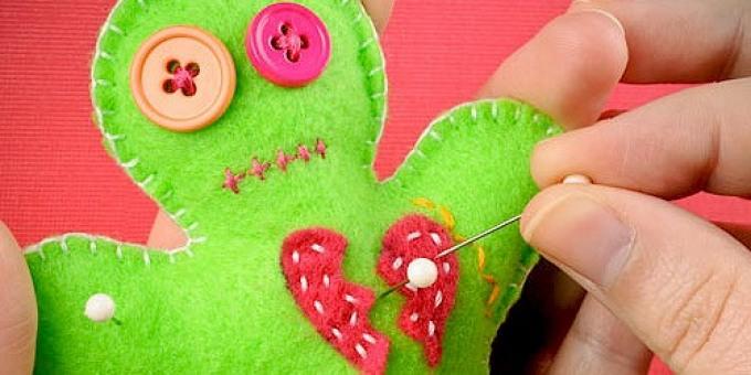 Как сделать куколку вуду из фетра