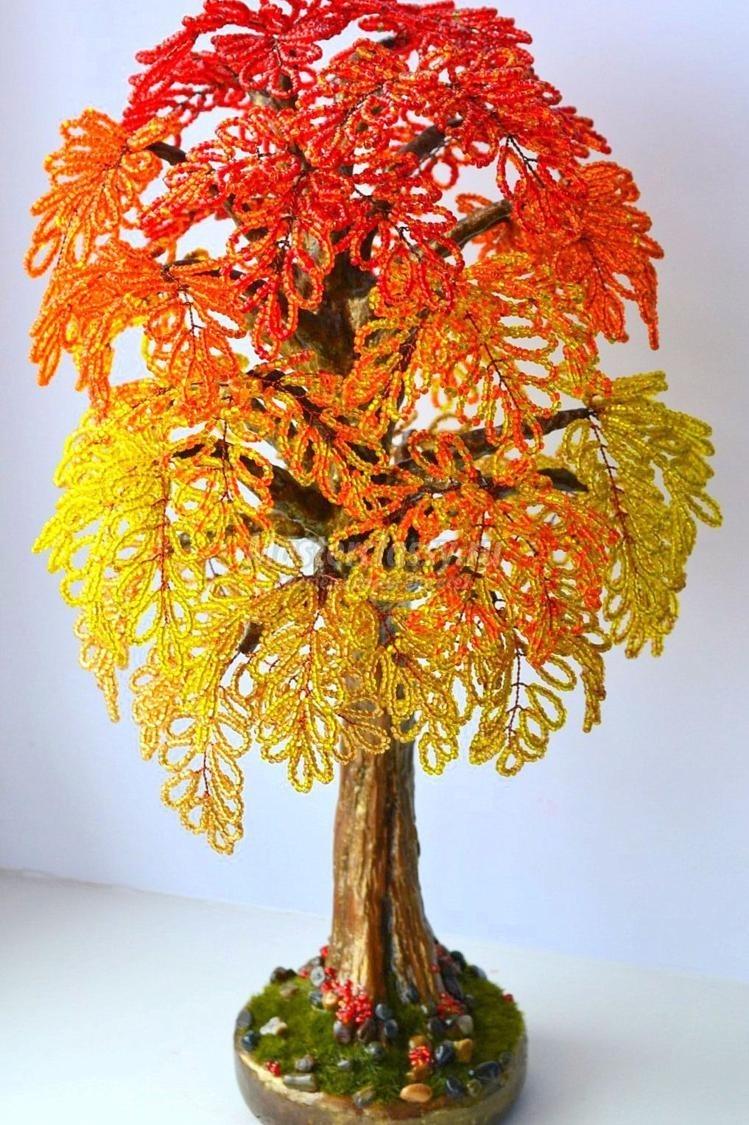 vstrechaya-osen Деревья из бисера своими руками