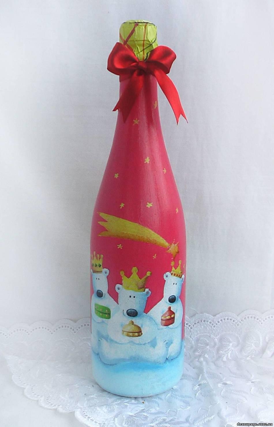 2e326bb6f1f7af174f11c89e257a2316 Декор бутылки на праздник в день рождение малыша