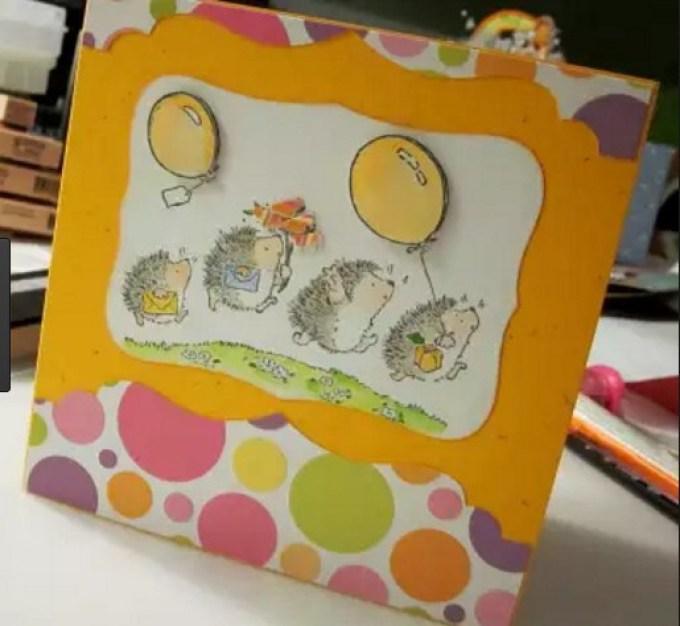 otkritka-s-ezhikom Как нарисовать открытку на день рождения. Как нарисовать открытку на день рождения своими руками