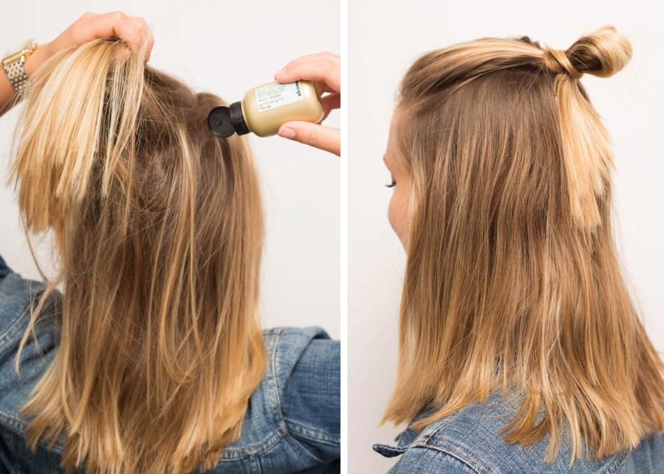 Отличный вариант полупучка для гладких волос