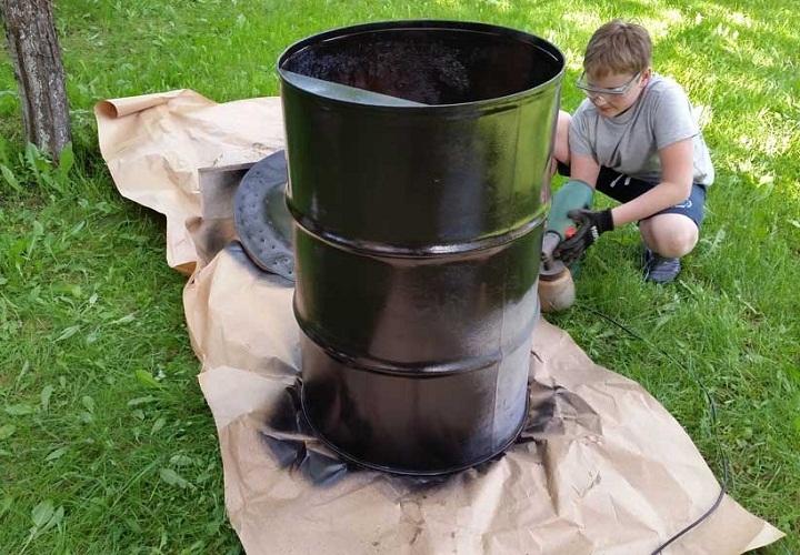Бочки можно использовать не только для сжигания мусора или хранения воды