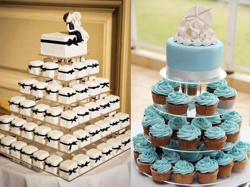 Многоуровневые подставки для пирожных и кексов