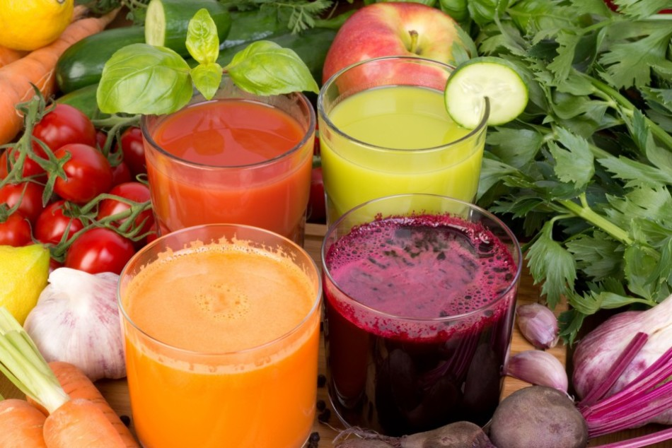Комбинированные свежеотжатые соки очень полезны для организма