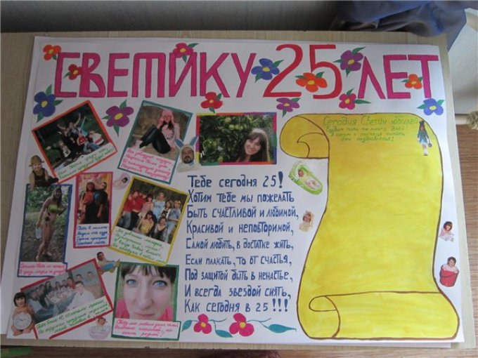 креативное поздравление подруге с днем рождения плакат приморском крае