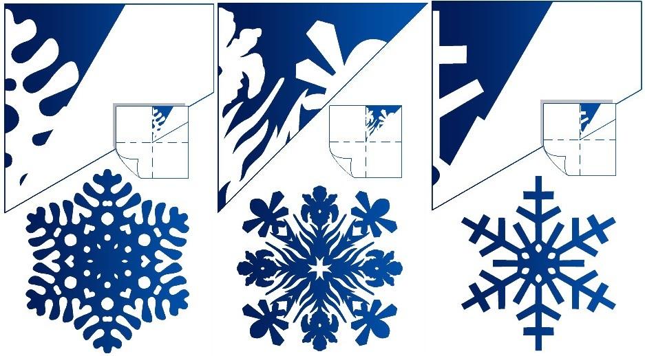 Снежинки из бумаги с картинками