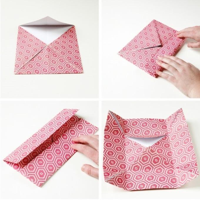 31041b72653ed551010383deec247c63 Нарядная коробочка для упаковки подарка из подручных материалов