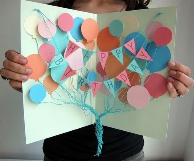 otkritka-dlya-druga Как нарисовать открытку на день рождения. Как нарисовать открытку на день рождения своими руками