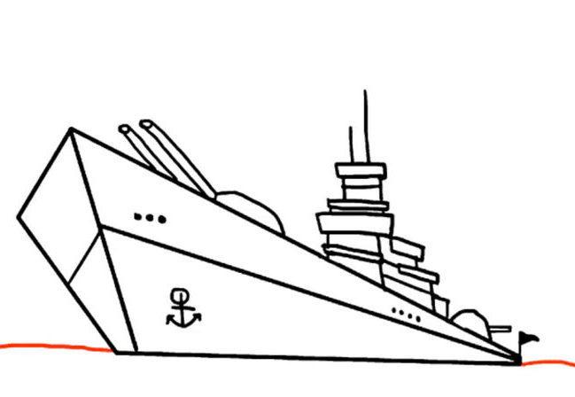31e4fba6189fc7737e416632aa9038ef Как нарисовать праздничный Парад военных кораблей на Параде Победы? Как нарисовать военный корабль карандашом и красками для ребенка поэтапно?    Класс Рисуем корабль в рукодельной энциклопедии Pro100hobbi