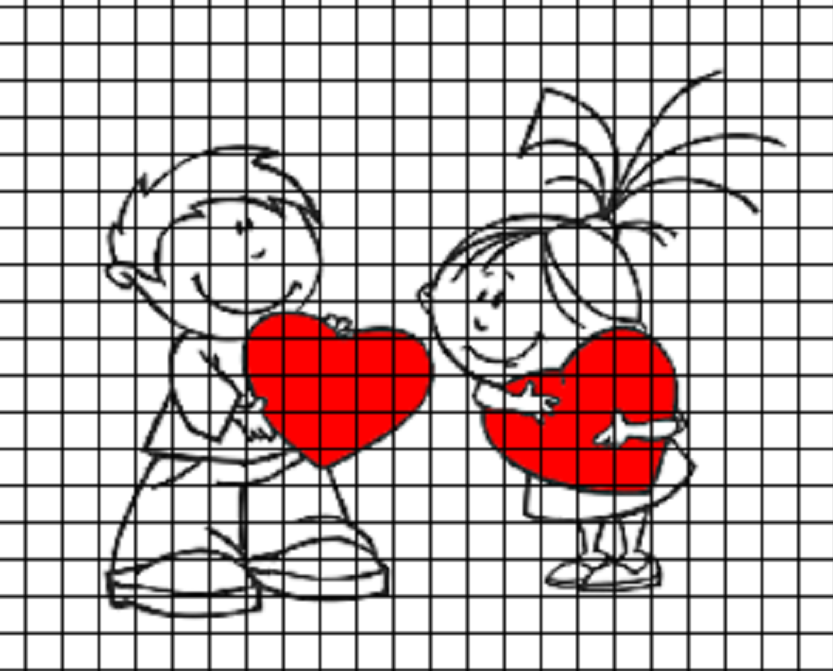 risunki-po-kletochkam-dlya-dnevnika Красивые и легкие рисунки для срисовки карандашом поэтапно для начинающих. Красивые и легкие рисунки по клеточкам для срисовки в тетради и личном дневнике для девочек и мальчиков