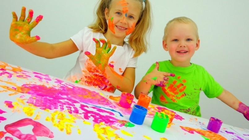 Рисование пальчиковыми красками