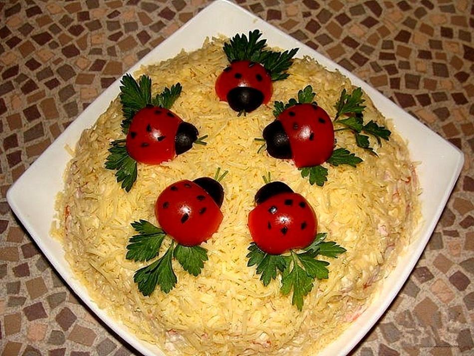 готовят рецепты красиво украшенных салатов с фото нас сможете взять