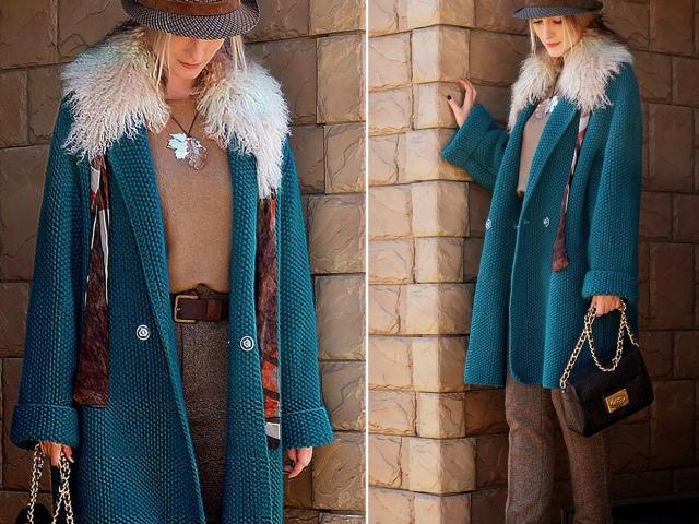 пальто спицами модели схемы вязания описание красивые модные