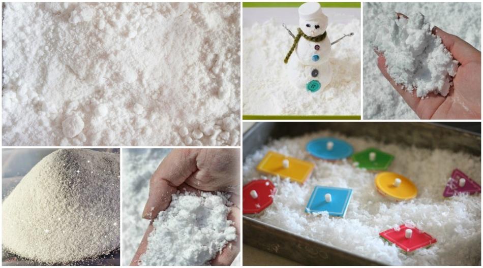 Искусственный снег из детской присыпки