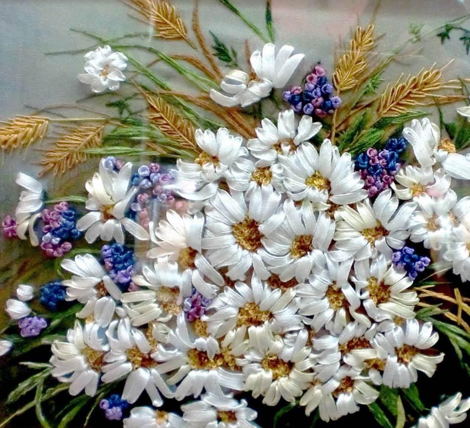 vishivka-lentami Вышивка лентами для начинающих. Схемы цветов