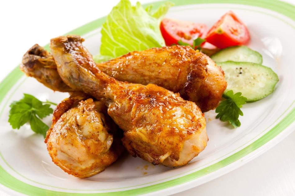 Куриные голени в пикантном маринаде с куркумой