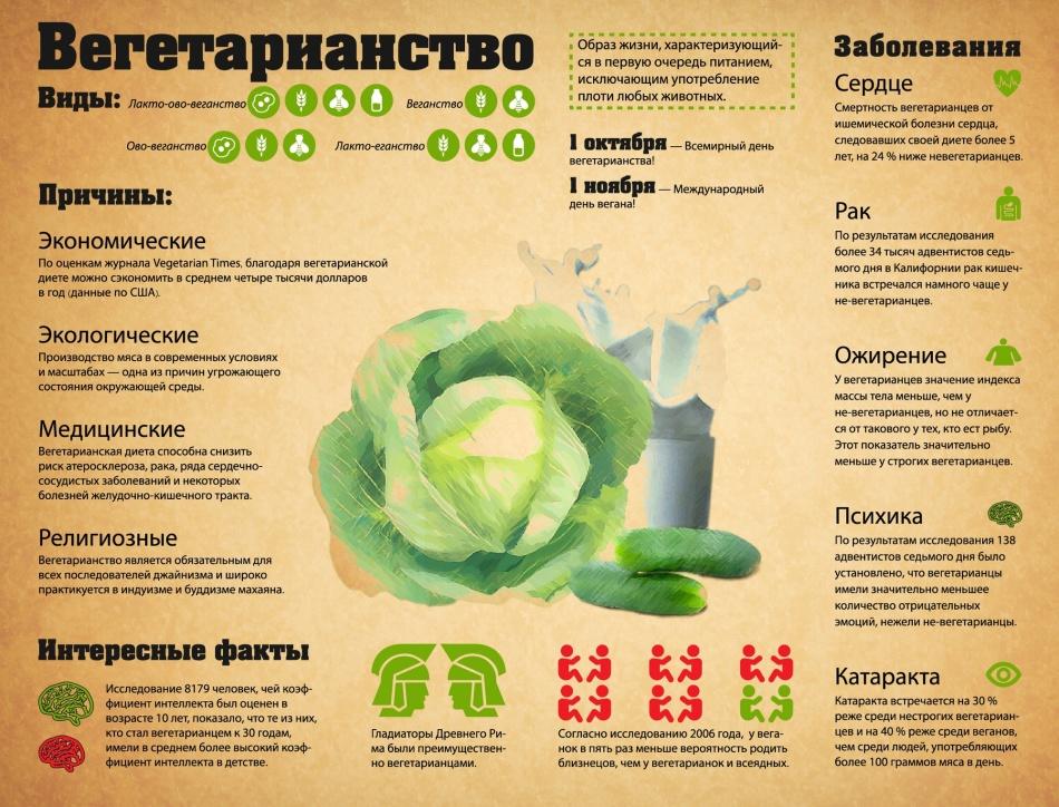 Виды и причины вегетарианства