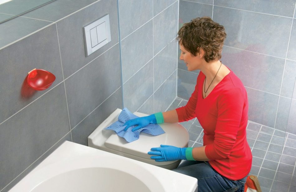 Домашние способы очистки сантехники от ржавчины.