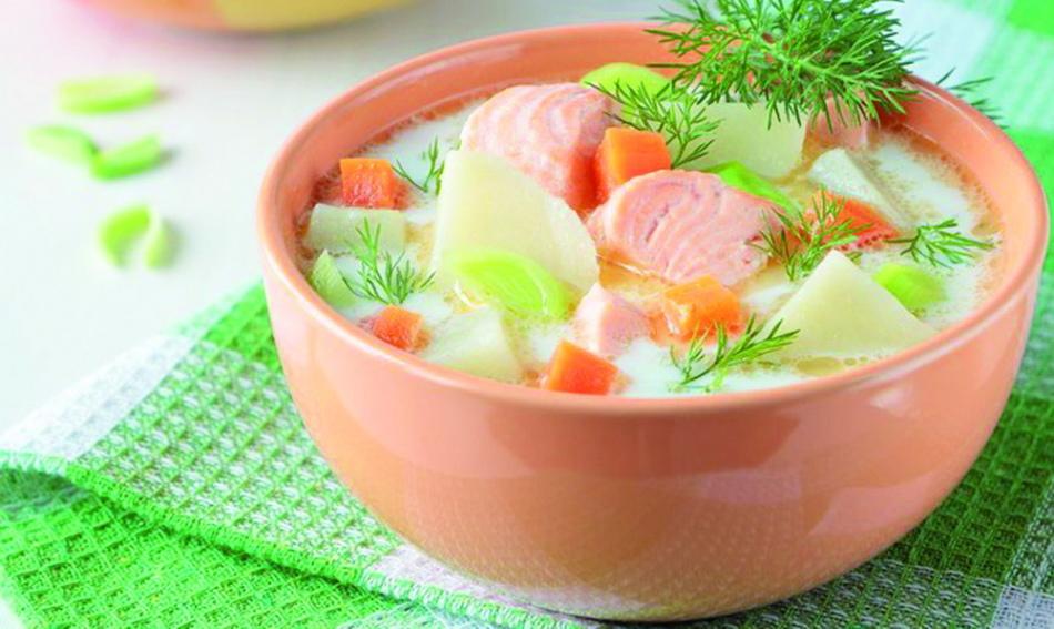 sup-s-risom Рыбный суп: вкусные рецепты из хека, семги, скумбрии, форели, сайры. Рецепт вкусного рыбного супа с томатами, пшеном, сливками, плавленным сыром