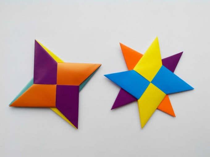 syuriken Как сделать объемную звезду из бумаги своими руками: 3D звезда оригами, объемная звезда к Новому году, звезда-оригами четырехконечная, звезда Фребеля — интересные идеи для поделок