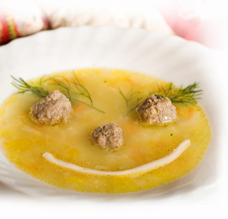 Суп с мясом детский