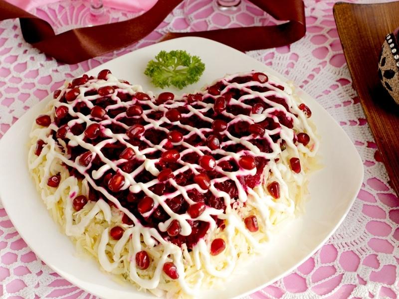 салат в виде сердца рецепт с фото она