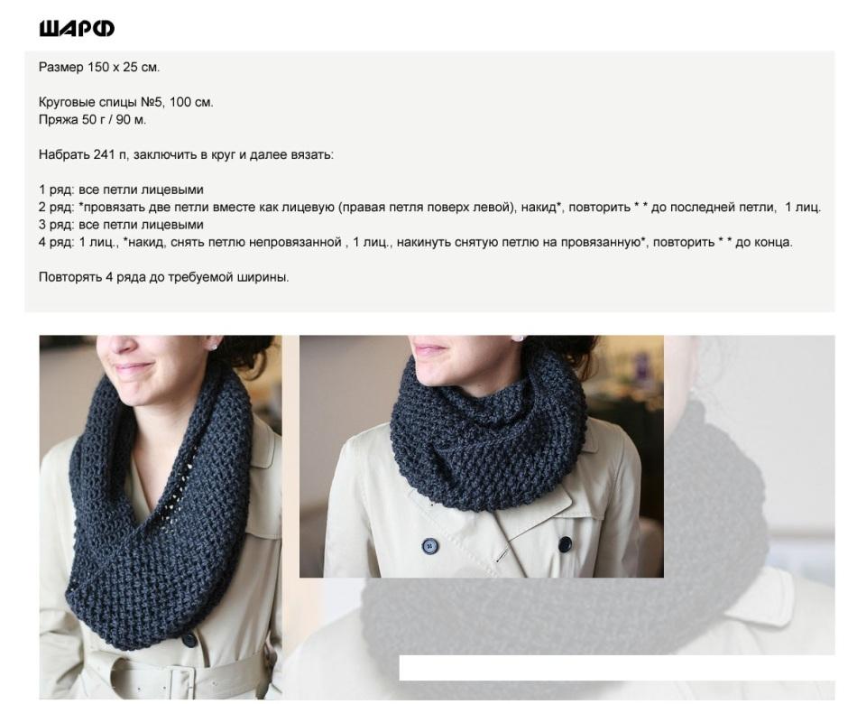 374e76f178fb48a343fb67e5795c5cfa Как связать женский шарф снуд спицами для начинающих пошагово? Какими спицами вязать снуд, сколько петель набирать, как выбрать узор и размеры?