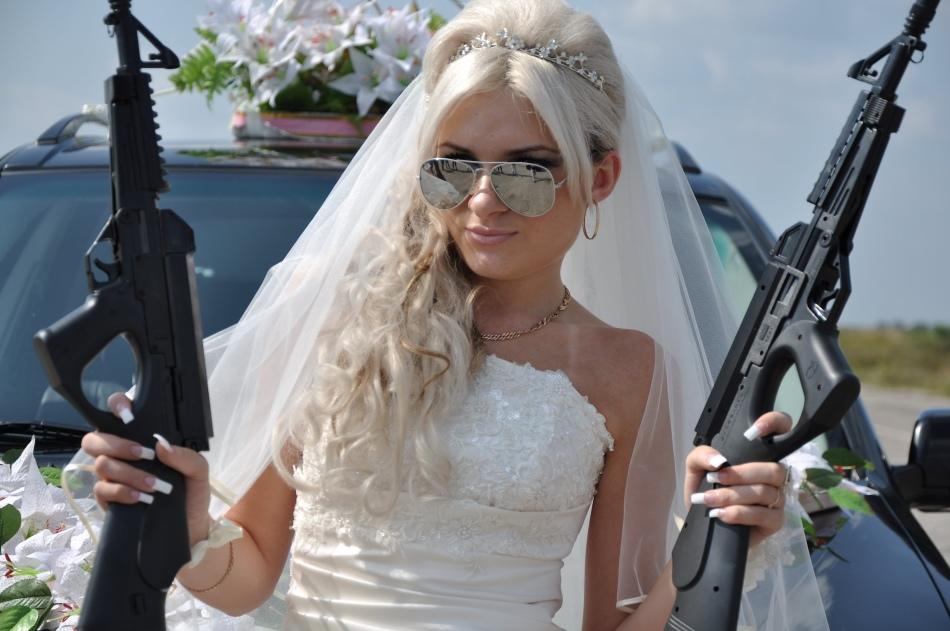 картинка невеста с автоматом высыхает, изделии