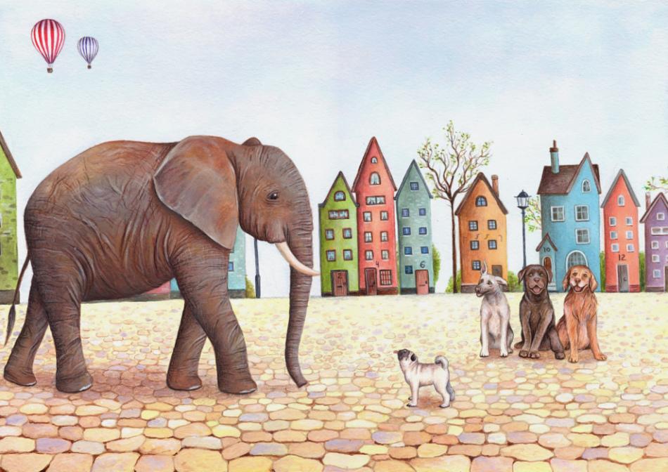 slon-i-moska-primeri-dlya-srisovivaniya Как нарисовать слона поэтапно: 5 вариантов как легко и просто нарисовать слона карандашом