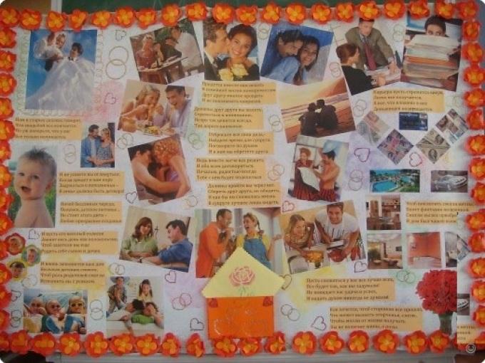 плакат поздравление на свадьбу своими руками фото ядрами можно собрать