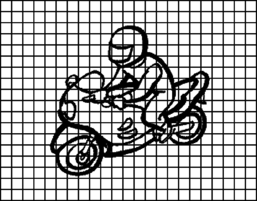 motocikl-dlya-srisovivaniya-po-kletochkam Красивые и легкие рисунки для срисовки карандашом поэтапно для начинающих. Красивые и легкие рисунки по клеточкам для срисовки в тетради и личном дневнике для девочек и мальчиков