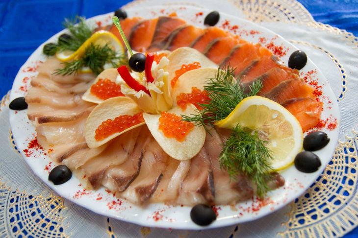Оформление рыбных блюд фото