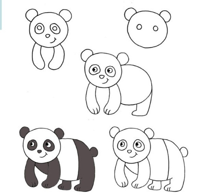 рисунок панды поэтапно это время