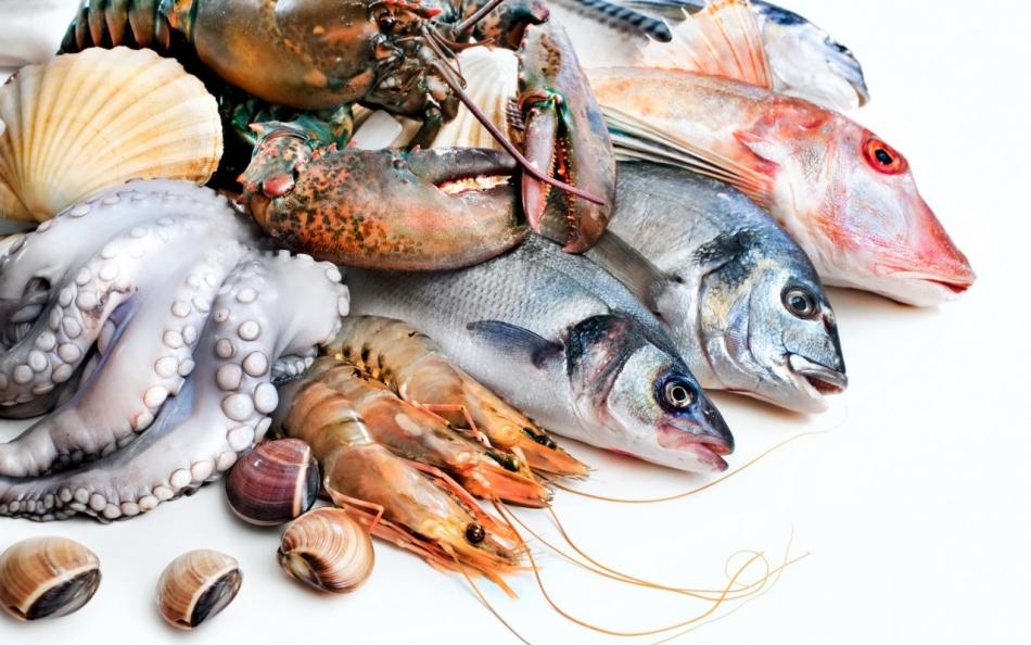 Морепродукты - низкокалорийные продукты питания