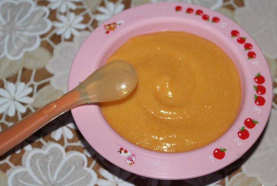 Морковное пюре с луком для малышей