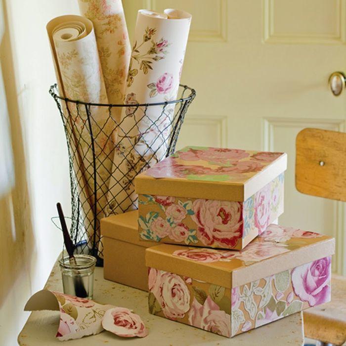Картонные коробки легко превращаются в красивые и нужные в доме вещи