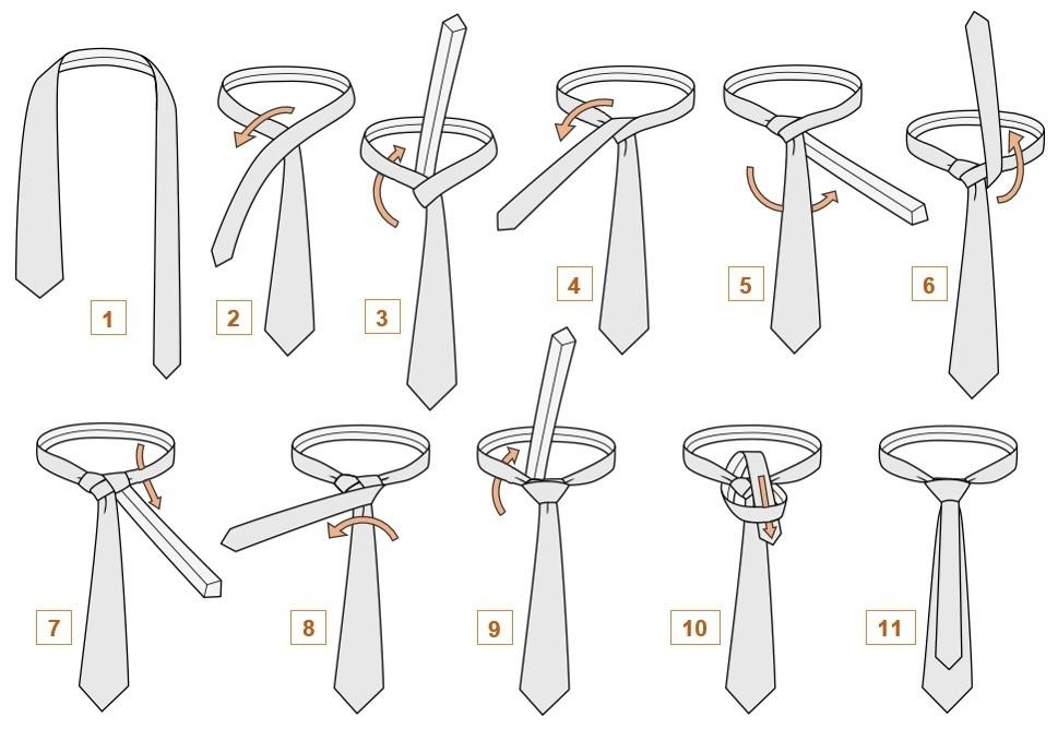 как завязать узкий галстук пошагово фото что мне очень